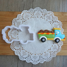 Dropshipping 8pcs Engineering car set biscuit plastic mold frosting pr