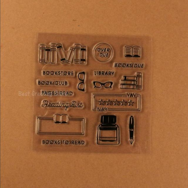 Eno Greeting Clear Stamps Bookstore Stamps Planner Book List Stamps