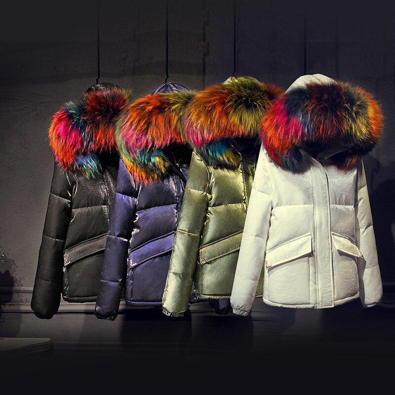 Real Colored Raccoon fur 2017 Winter jacket women down jackets womens Duck down outerwear coat coats long Velour parka overcoat