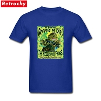 Reservoir Green Frogs Love Earth Recycle Or Die Merchandise T-Shirt Short Sleeve Mens Organic Cotton Big Size T Shirt