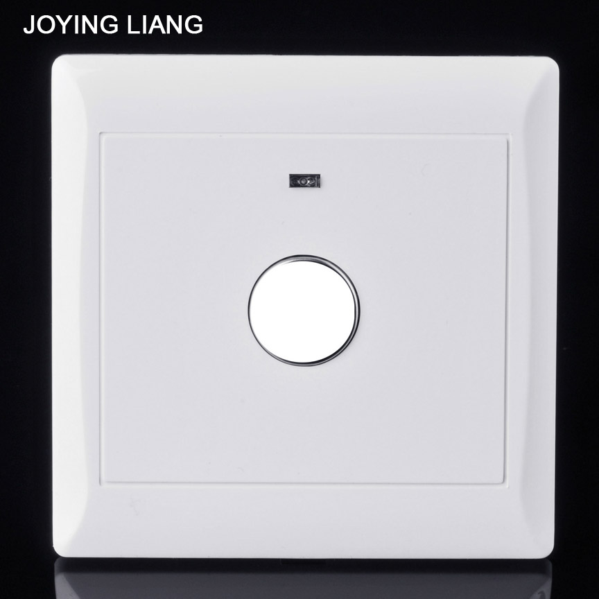 JOYING LIANG Flush-type 86 Style Touch Delay Switch Corridor Application Indicator Light White Wall PC Panel Delaying Switches home corridor 86 type led energy saving lamps power supply wall inductive switch panel sound and light control delay switch