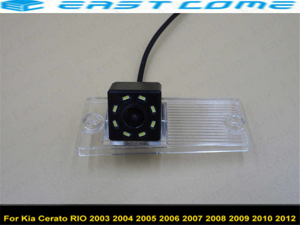 車 8LED Ccd ナイトビジョン用駐車場リアビューカメラ起亜セラートリオ 2003 2004 2005 2006 2007 2008 2009 2010 2012 バックアップカメラ