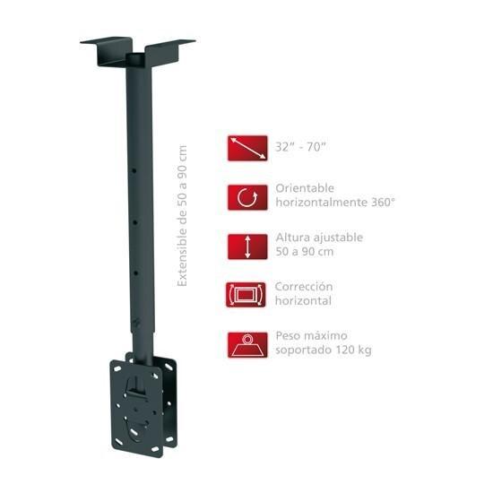 Support accessoire de plafond TV DOUBLE à soporte