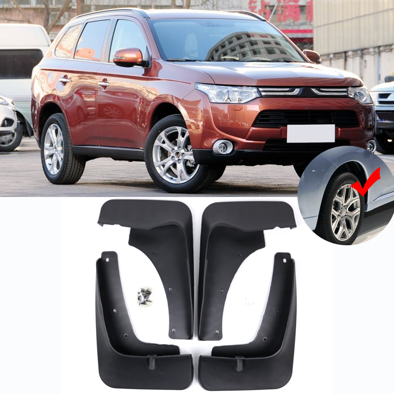 Mitsubishi Outlander Consumer Reviews: Aliexpress.com : Buy Front Rear Molded Car Mud Flaps For
