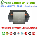 Indio IPTV Caja que soporta 270 más canales indios, soporte HD Canales Indios, mejor cuadro IPTV Indio No Mensual IP TV