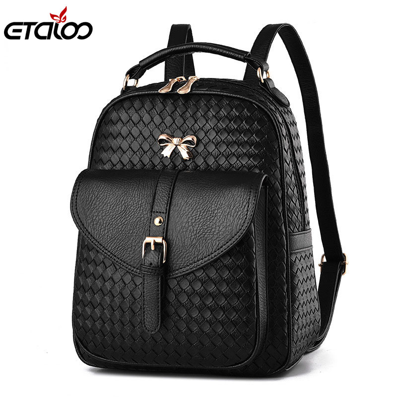 2017 new fashion ladies backpack shoulder Backpack Bag dual purpose Korean fashionista PU leather bag of
