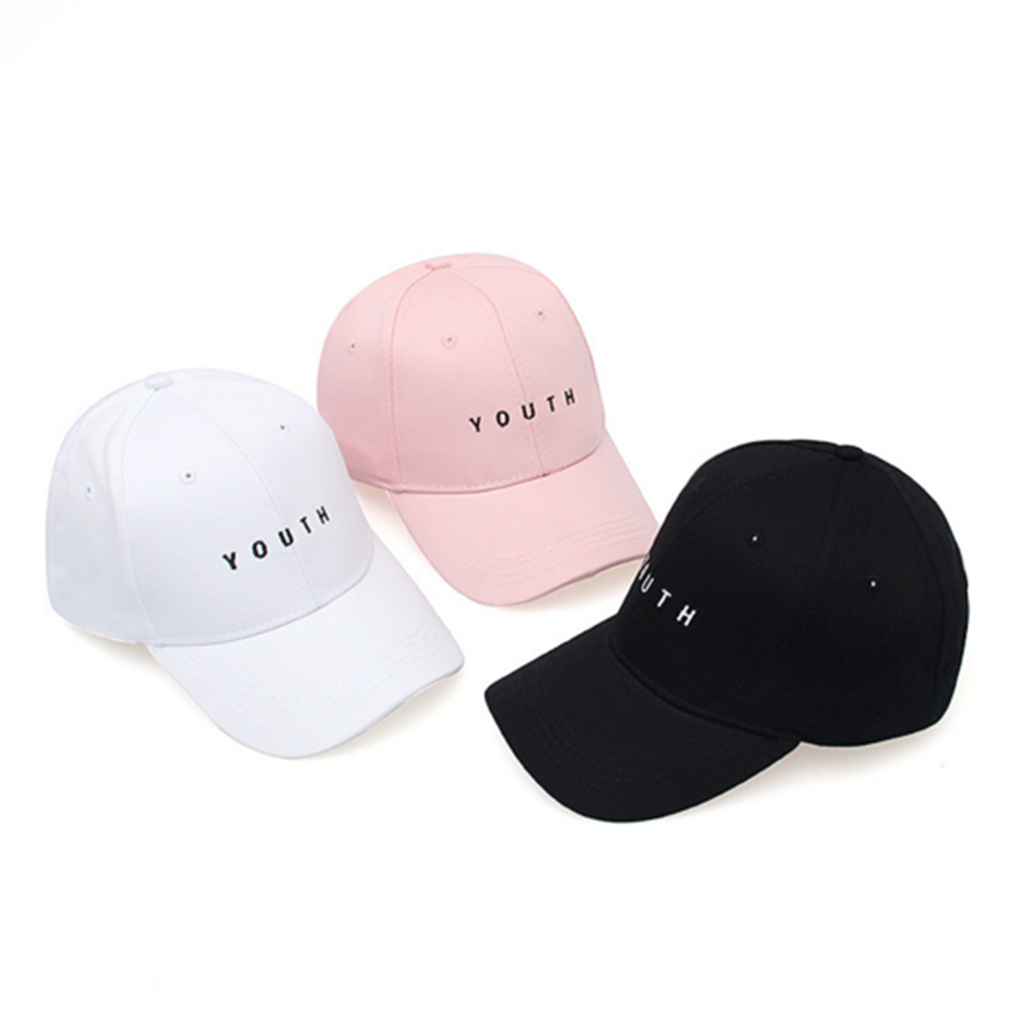 Men Women Embroidery Baseball Cap Youth Letters Baseball Cap Events Team Hat Girls Sun Hat Leisure women cap skullies