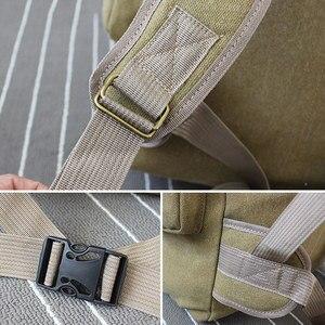 Image 3 - 60L大型軍用バッグキャンバスバックパック戦術的なバッグキャンプハイキングリュックサック軍mochilaタクティカ旅行モール男性屋外XA84D