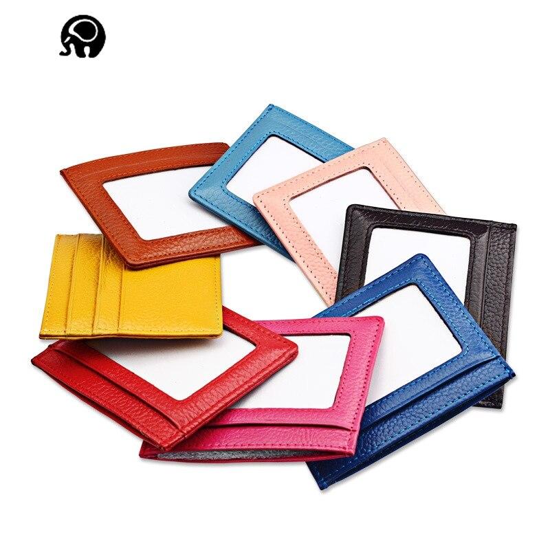 Slim leather multi-card-bit pack bag men Wallet Business Card Holder bank cardholder lea ...