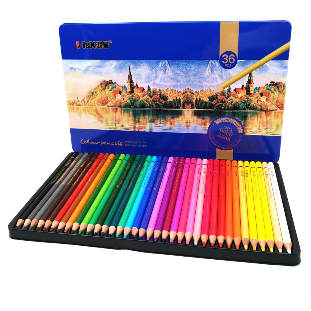 12/24/36/48 Colors Wooden Colored Pencils Set Artist Painting Oil Color Pencil For School Drawing Sketch Art Supplies12/24/36/48 Colors Wooden Colored Pencils Set Artist Painting Oil Color Pencil For School Drawing Sketch Art Supplies