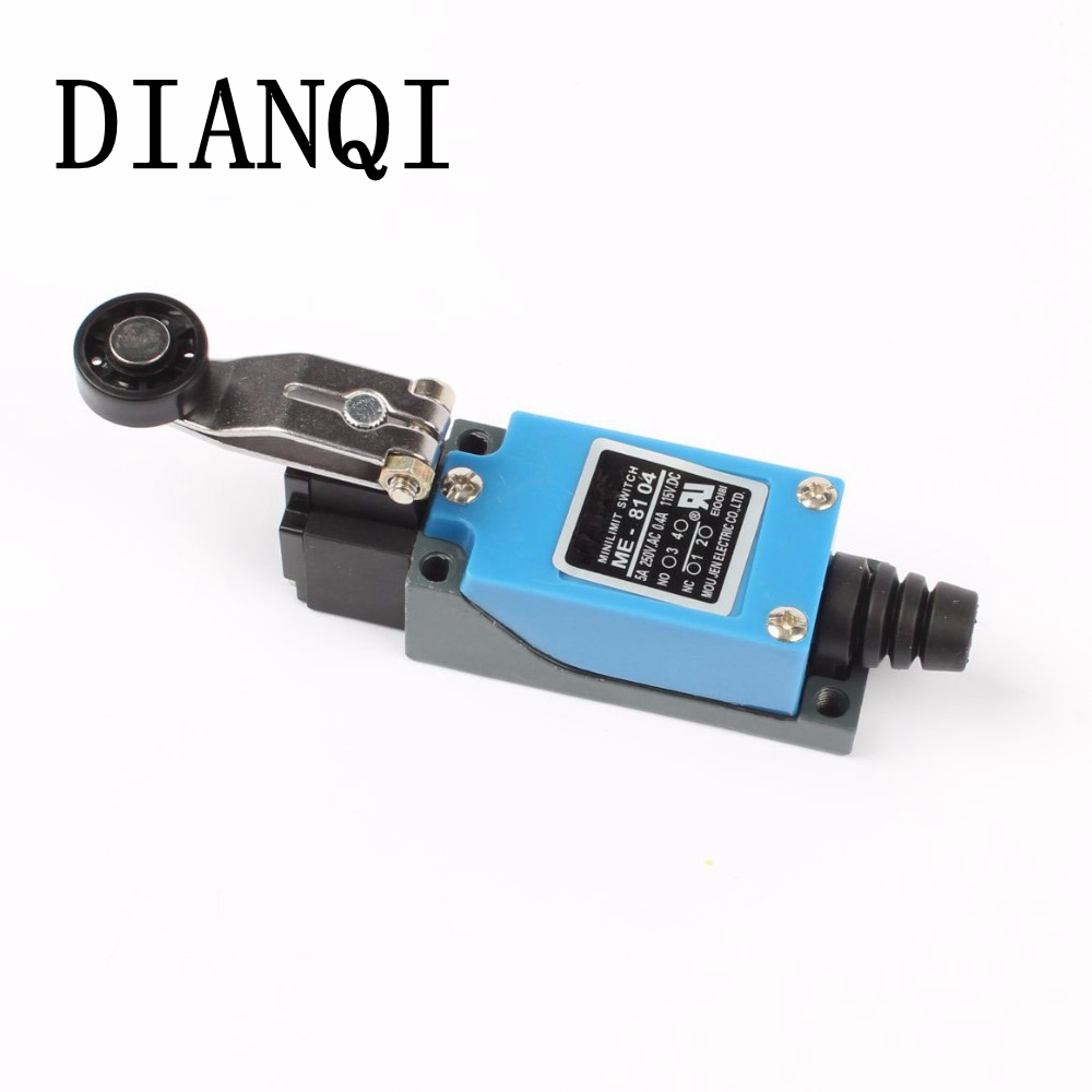 DIANQI ME ME-8104 limit switch Limit Switch TZ-8104 Rotary Plastic Roller Arm Limit Switch free shipping Momentary good quality high quality me 8166 spring stick rod enclosed limit switch