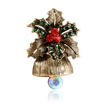 CINDY XIANG Creative Alloy Bell Brooches For Women Cute Vintage Christmas Gift Accessories Pins Sweater Dress Cost Jewelry 2018