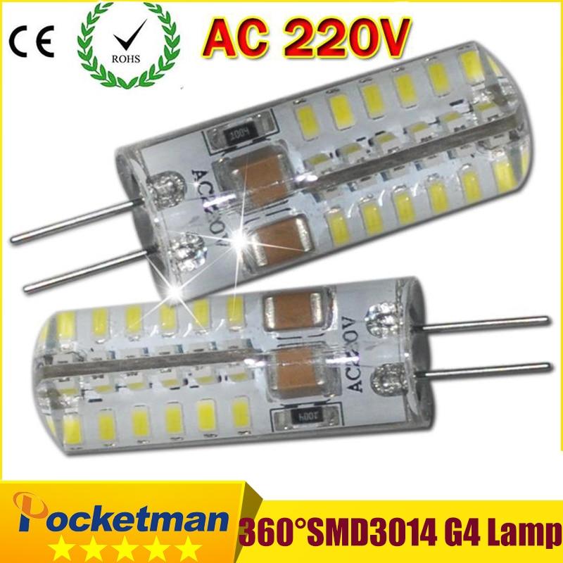 High Power SMD3014 3W/4W/6W/7W 220V 230V 240V G4 LED Lamp led light 360 Beam Angle LED Bulb Lamps warranty