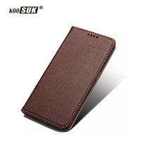 Luxury Real Leather Cover For Samsung Galaxy S6 G9200 Case Simple Styling Slim Flip Phone Bags