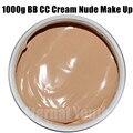 Mineral pura Crema BB CC 1000g Maquillaje Nude Aislamiento Corrector de Blanqueamiento Hidratante Cosméticos Salón de Belleza Equipos para el Cuidado de OEM