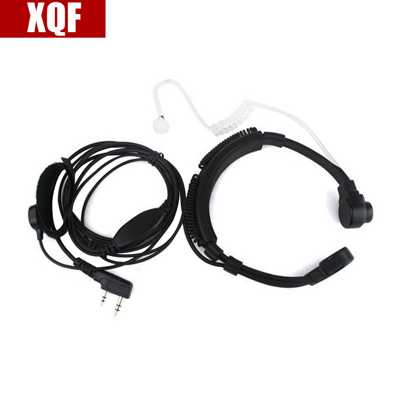 XQF 10PCS Throat Mic Headset/Earpiece PTT For Walkie Talkie Baofeng UV5R Puxing Two Way Radio