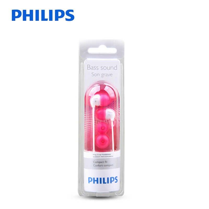 Philips oryginalne SHE3501 douszne słuchawki douszne słuchawki douszne 3.5mm Conteol Sportowe zestawy słuchawkowe słuchawki z super basem dla Xiaomi LG Huawei