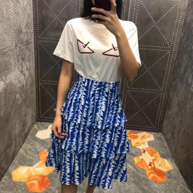 Femmes longueur Jupes Printemps Mode Empire Dernière Genou Taille Haute Jupe 2019 qSHEz
