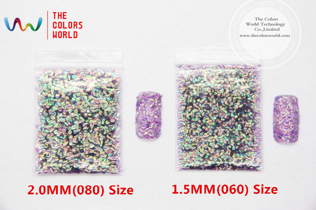 TCR514 Rizo de escamas de Pescado colores Iridiscentes copos de desplazamiento para uñas de arte de uñas de gel y la decoración de DIY