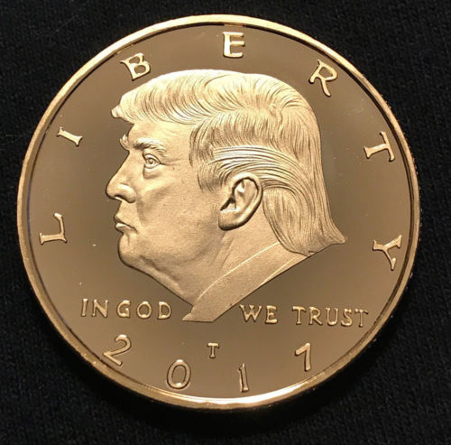 President Donald Trump Inaugural Golden Eagle Commemorative Novelty Coin Hot In Non Currency
