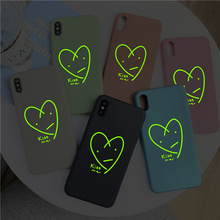 Moskado Luminous Love Heart Phone Cases For iPhone 6 6S 7 8 Plus X XS Max XR Ultra-thin Soft TPU Back Case Cover Shells