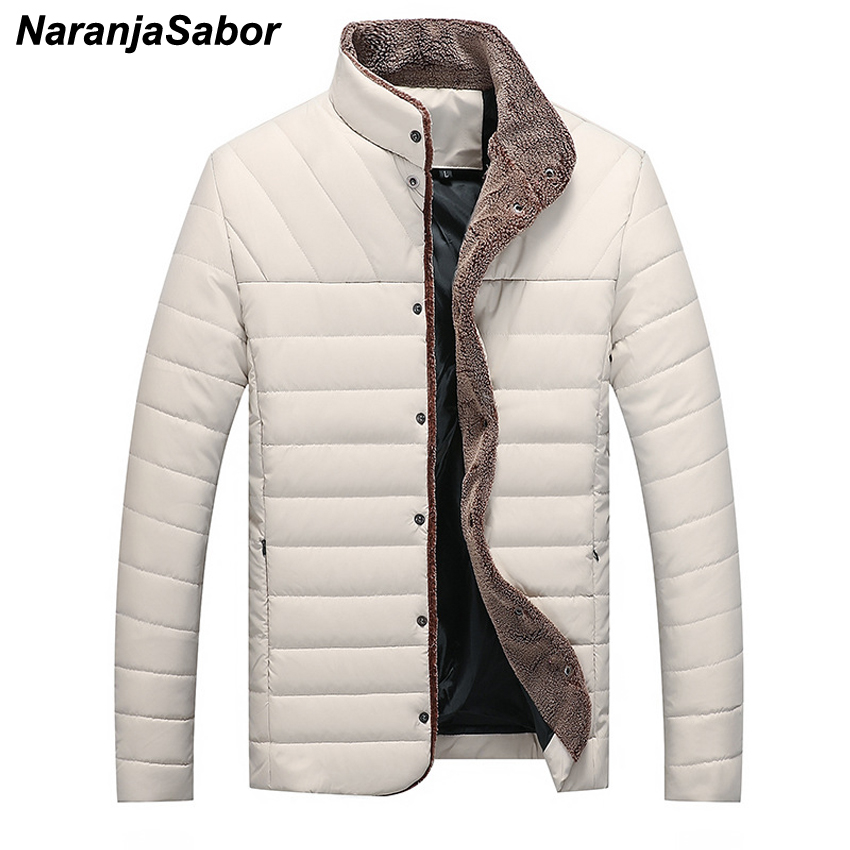 NaranjaSabor Winter Autumn 5XL New Men's Jacket Casual Warm Parkas Male Thick Coats Single Breasted Outerwear Men Brand Clothing