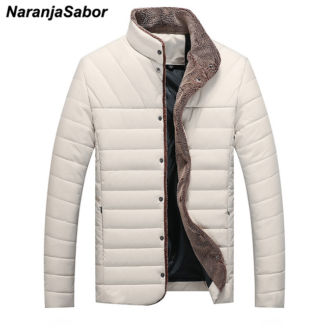f323693dd8744 NaranjaSabor Winter Autumn 5XL New Men s Jacket Casual Warm Parkas Male  Thick Coats Single Breasted Outerwear