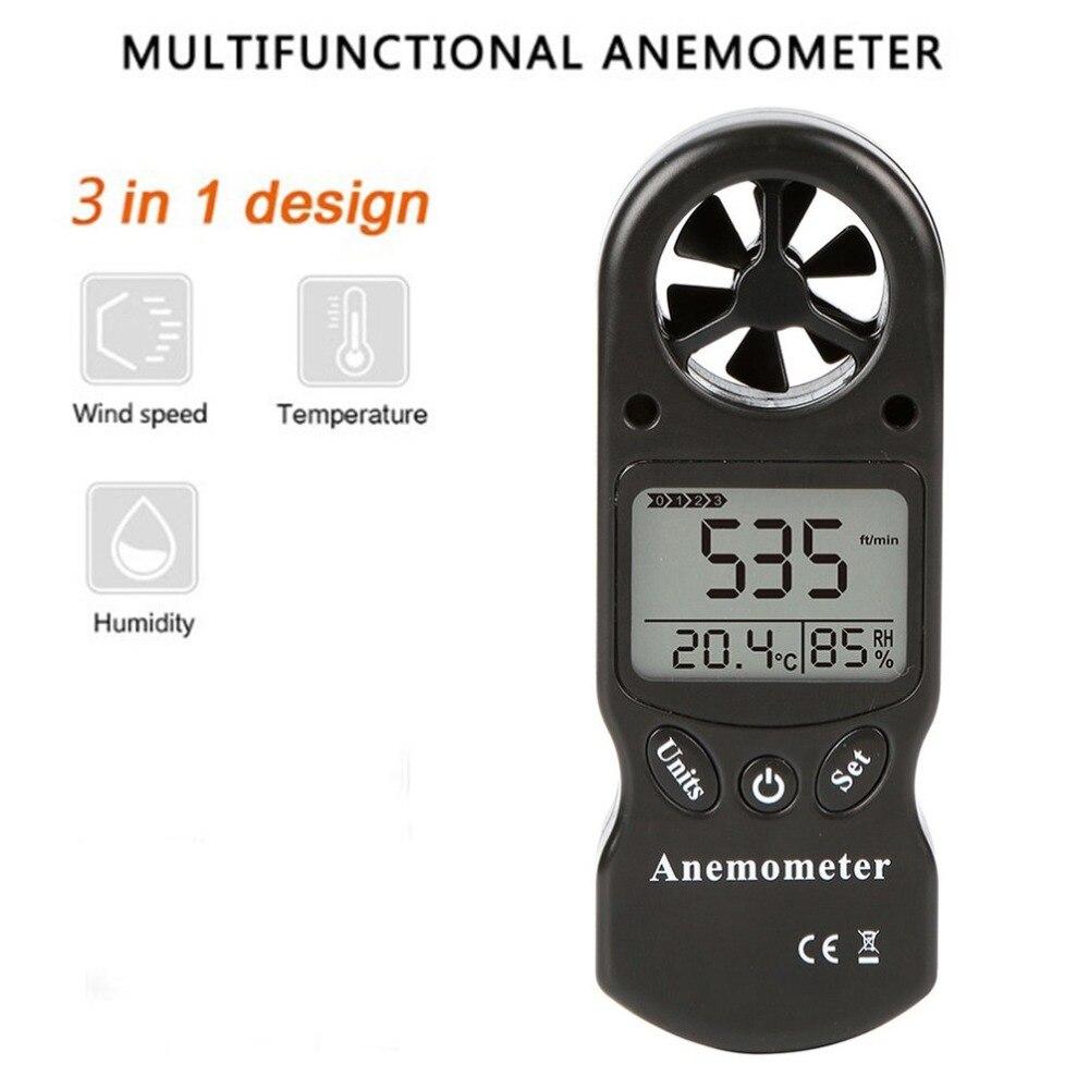 Mini Multipurpose Digital Anemometer with LCD Display Used as Wind Speed Meter 4