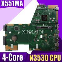 XinKaidi N3530 4 Core CPU X551MA Laptop motherboard for ASUS X551MA X551M X551 F551MA D550M Test original mainboard