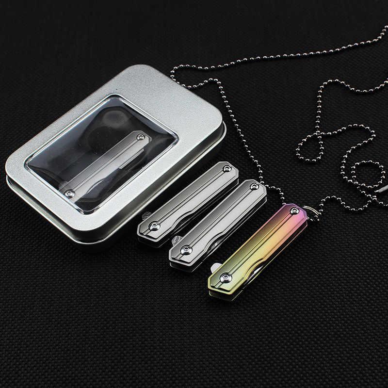 58-60HRC D2 или дамасский нож Титан ручка сплава складной нож карманный мини складной нож для повседневного использования Кемпинг Открытый EDC инструмент