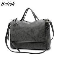 Bolish Brand Fashion Female Shoulder Bag Nubuck Leather women handbag  Vintage Messenger Bag Motorcycle Crossbody Bags Women Bag  73.1  36.6 3bdb73cd5d03f