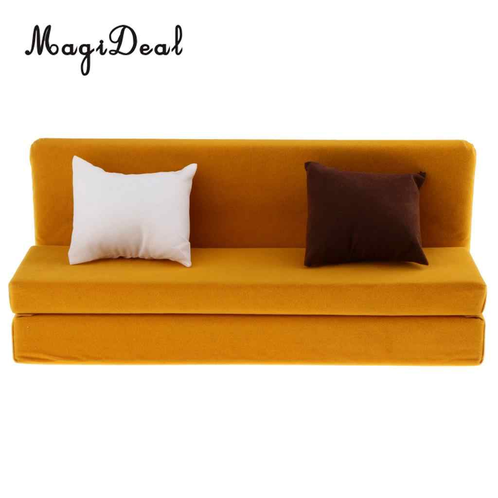 1/6 Lange Sofa Couch Met Kussens Voor 12 Inch Action Figure Poppen Poppenhuis Woonkamer Meubels Accessoire Decor Speelgoed