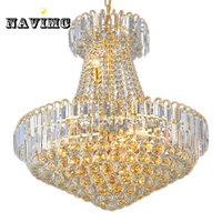 Royal Empire Silver Crystal chandelier Light French Golden Crystal Hanging Light Diameter 60cm