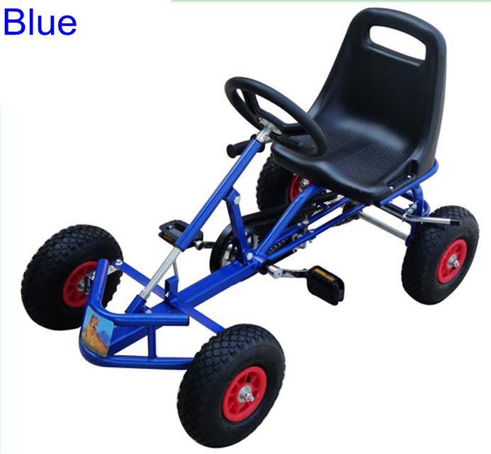 Foot Pedal Go Kart Four Wheel Adult Go Karts, Hand Brake Adult Karts