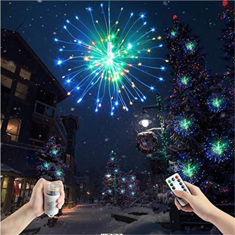 Fairy Fireworks LED String Light Foldable Battery Powered DIY  Lighting With Remote Controller For Garland Xmas Party Decoration