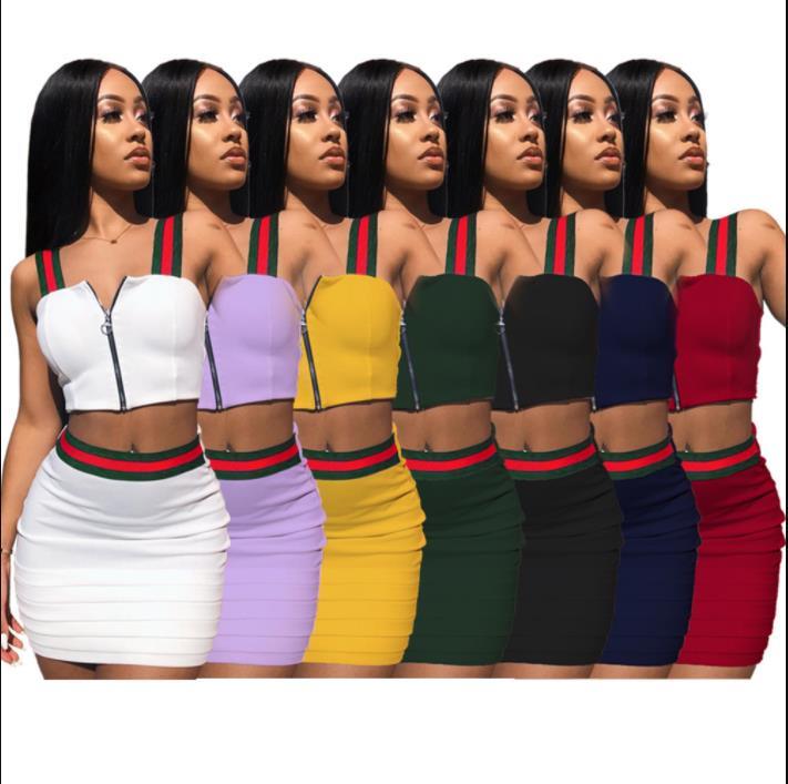 edcd4c8e5deb4d Plus Size XXXL XXL Two Piece Set Summer Women Crop Tops and Mini Skirts  Sets 2pcs