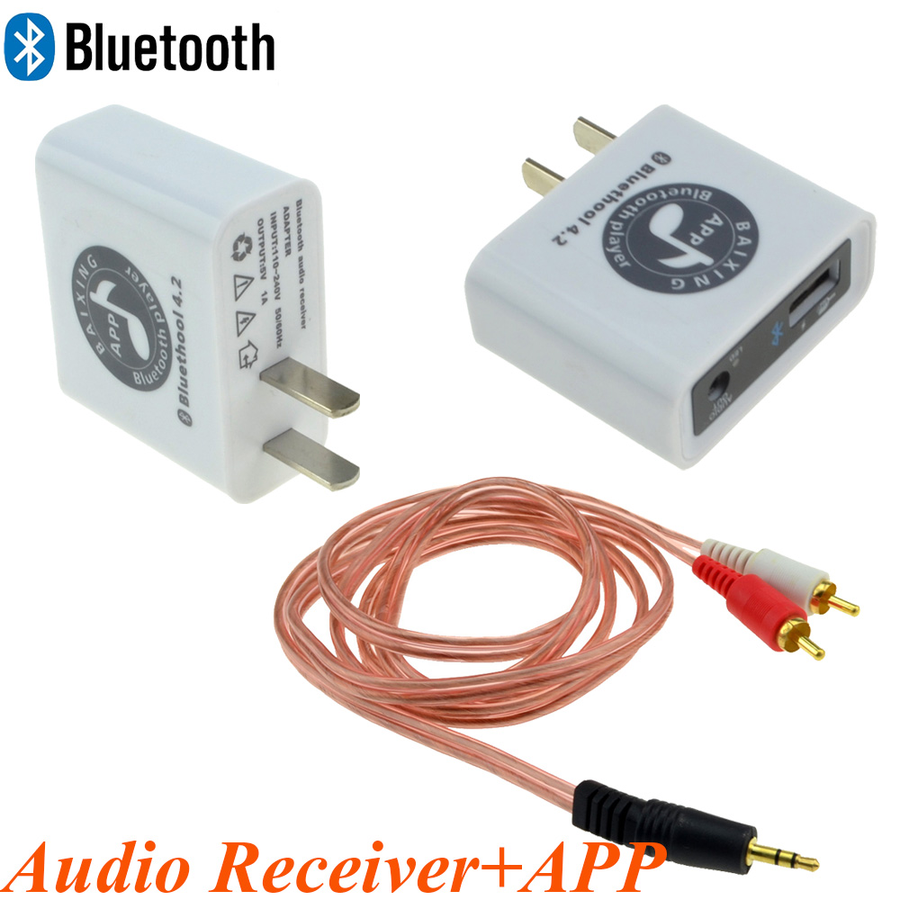 2018 Newest Mobile APP Control Charger type Bluetooth 4.2 Audio Receiver Wireless Stereo Sound Module AC110~220V 12006010