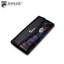 Zooler горячие женские кожаные кошельки разработан тиснением 2017 стильный кошелек маленький кошелек известные бренды ПР Леди Монета Длинные кошельки 2953