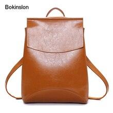 Bokinslon Для женщин рюкзак сумка из искусственной кожи Цвет Дамская мода Сумки Повседневное простой Дорожные сумки для женщин