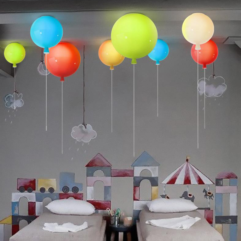 Creative Art Deco colorful balloon LED Ceiling Light Novelty magic glass ball lighting dinning room children's room Ceiling lamp fashion led bulb glass ball pendant chandelier colorful diy art colorful ball ceiling lamp lantern fixture