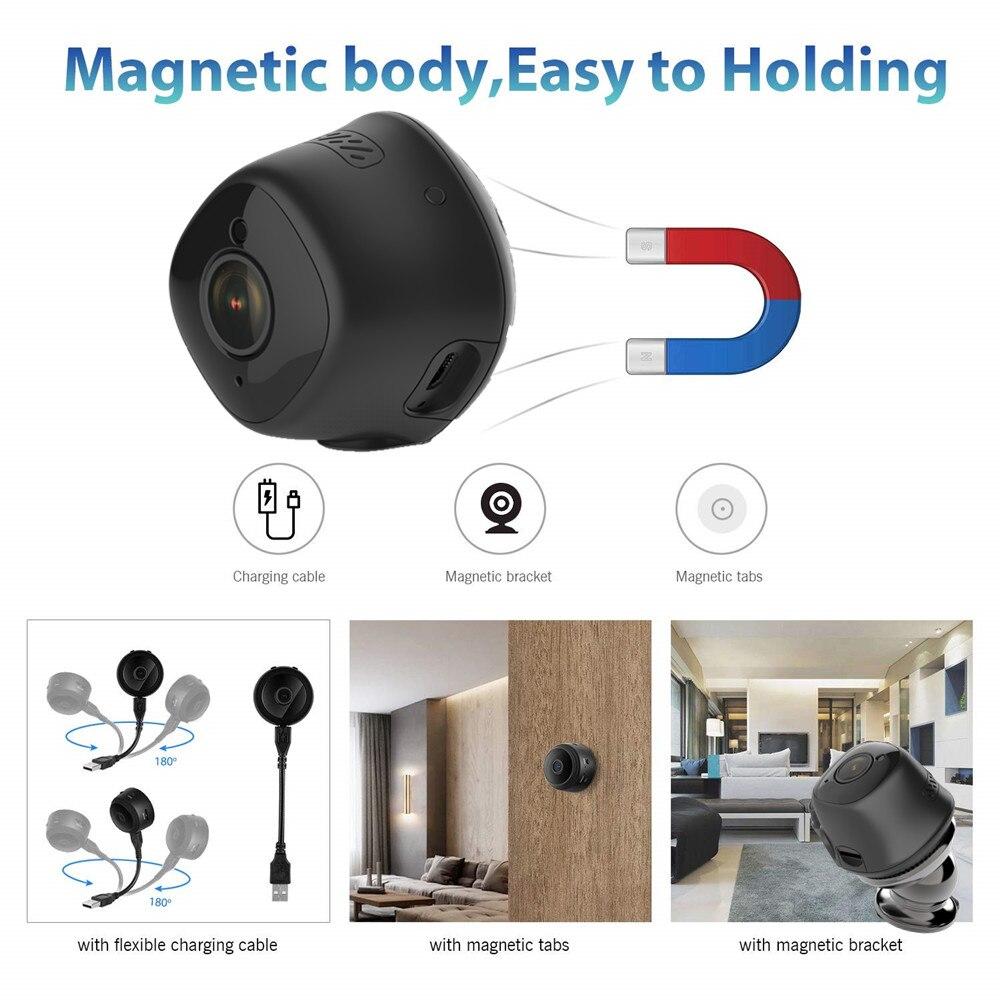 Micro Mini caméra ip wifi 1080 P HD 2mp sans fil réseau de sécurité à domicile caméscope nounou bébé moniteur détection de mouvement pour téléphone - 3