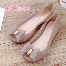 New Jelly Shoes for Summer Women Fishmouth Sandals Flat-soled Slip-proof Shallow Beach