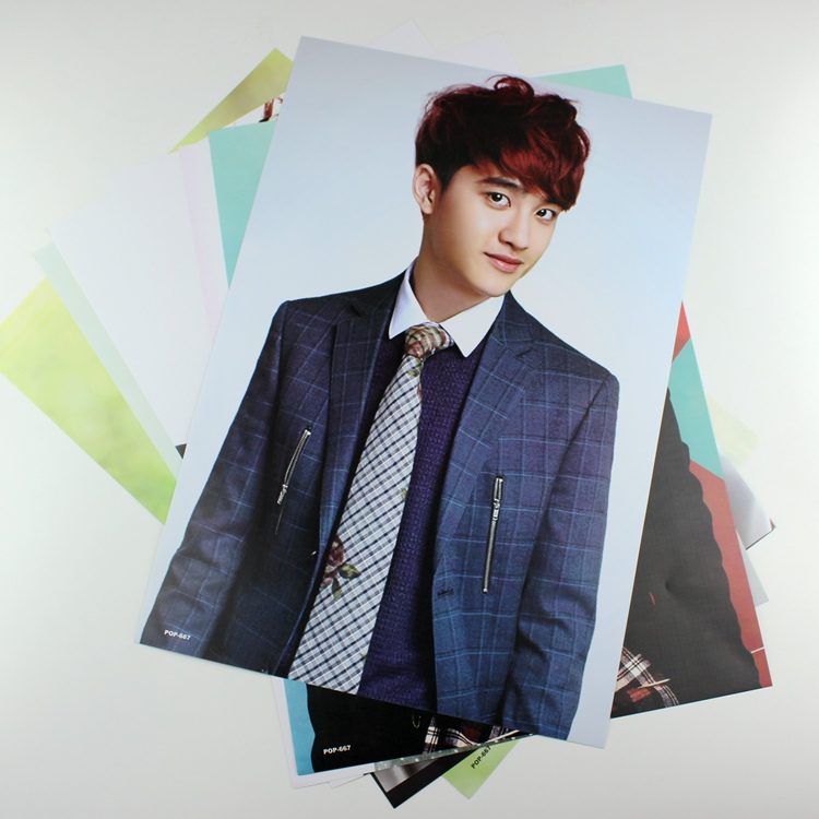8 42x29cm Exo Du Jing Xiu Poster Wall Decoration Korean Celebrity
