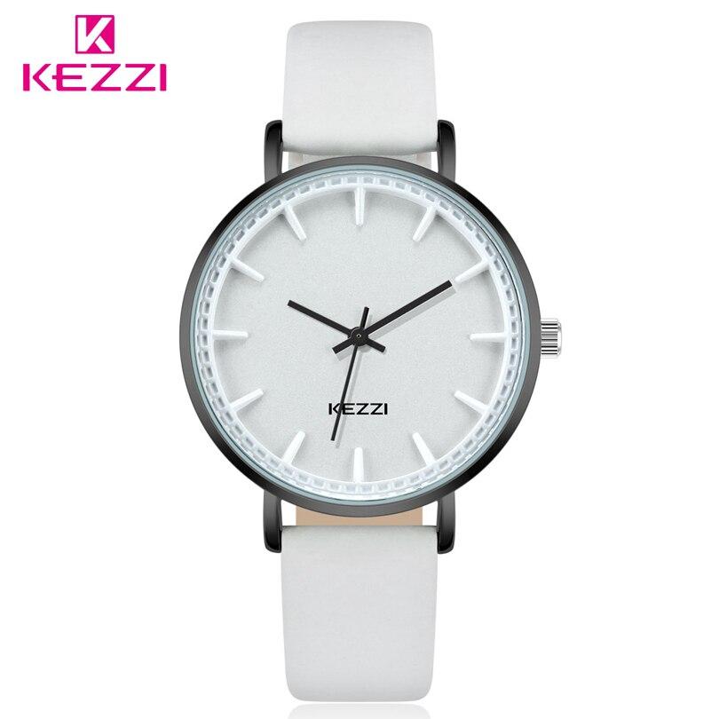 KEZZI Luxury Brand Women Quartz Watch Fashion Casual Wristwatch Leather Ladies Watch Classic Roman Scale Waterproof Watchs