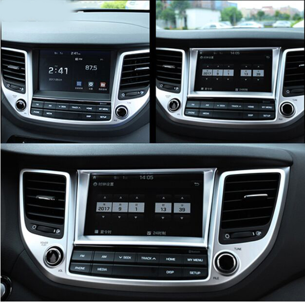 fit for hyundai tucson tl dash navi screen panel interior. Black Bedroom Furniture Sets. Home Design Ideas