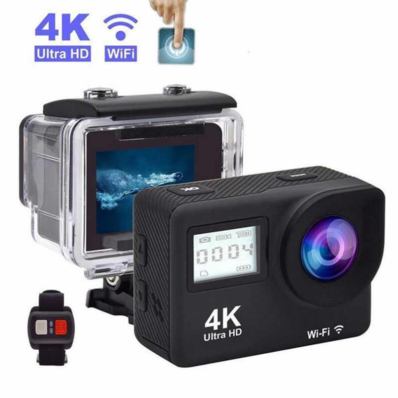 "Mini 4K Action Camera Sansnail Wifi 2.0 ""Layar Full HD Allwinner 30fps Mini Helm Tahan Air Olahraga DV Kamera remote Control"