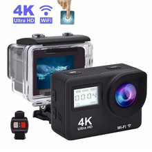 """ミニ 4 18K アクションカメラ Sansnail WIFI 2.0 """"画面フル HD Allwinner 30fps ミニヘルメット防水スポーツ DV カメラリモート制御"""