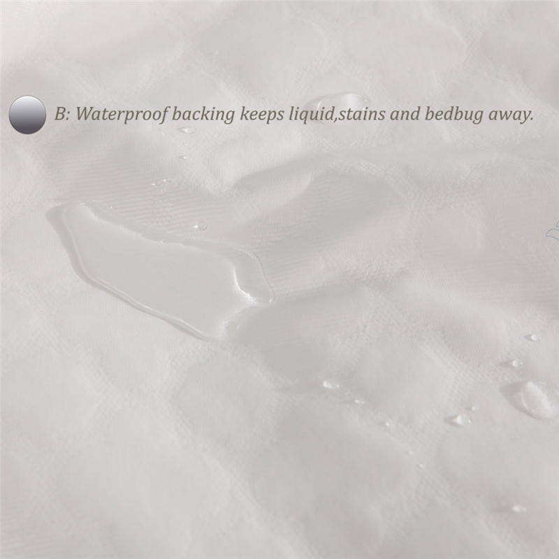 100% Waterproof and Breathble High quality Reversible Tencel cotton cloth Mattress Protector/ Mattress Cover Both 160x200cm A A