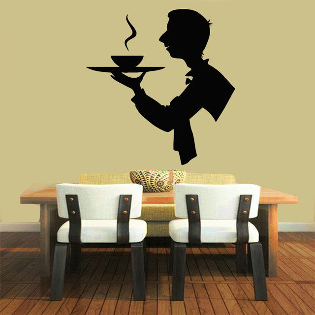 New Arrival Restaurant Cafe Vinyl Wall Decal Creative Man Chef ...
