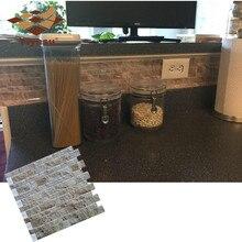 3D Камень самоклеющиеся плитки пилинг и палка щитка стены стикеры винил ванная комната кухня домашний Декор DIY